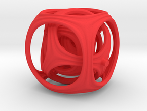 Gyro the Cube (Multiple sizes, from $11.50) in Red Processed Versatile Plastic: Extra Small