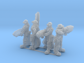 Female Stealth Gang with Slug Rifles in Smooth Fine Detail Plastic