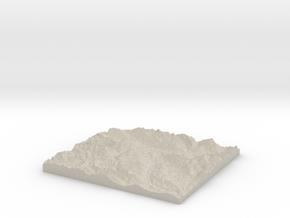 Model of Columbia River in Natural Sandstone