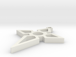 Cross Design in White Natural Versatile Plastic
