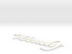 Wendy Name Pendant in White Processed Versatile Plastic