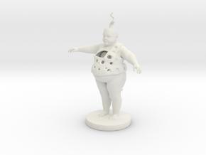 Fat Child in White Natural Versatile Plastic