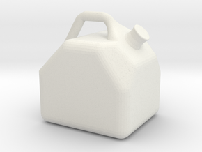Miniature Gas Can Gasoline Jug 1:10 Scale RC Rock  in White Natural Versatile Plastic