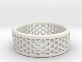 Honeycomb in White Natural Versatile Plastic