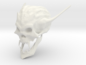 Skull in White Natural Versatile Plastic