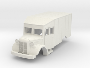 Austin K2 (Bellewagen 2) HO in White Natural Versatile Plastic