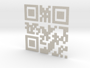 Wien Vienna 3D QR Code Puzzle 120mm in Natural Sandstone