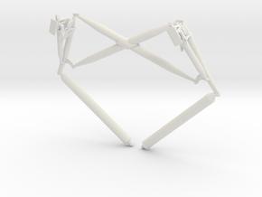 Truss AssemblyLanding gear cross brace in White Natural Versatile Plastic