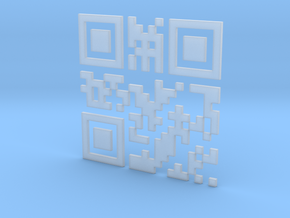 Wien Vienna 3D QR Code Puzzle 120mm in Smooth Fine Detail Plastic