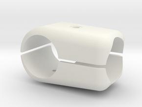 T Stück 25x25x Verstärkt 2x Gewinde M4 in White Natural Versatile Plastic