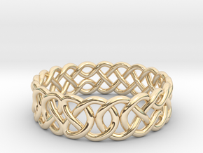 Celtic Ring - 23.5mm ⌀ in 14K Yellow Gold