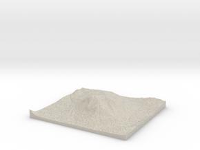 Model of Mount Crested Butte in Natural Sandstone