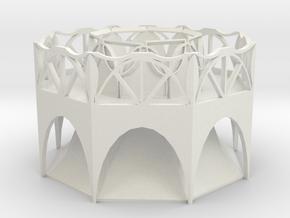 Arch Planter in White Natural Versatile Plastic