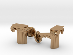 Ionic Cufflinks in Polished Brass
