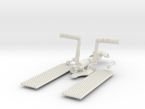 1:4 Scale Jet Ranger Foot Pedal Assembly - Dissemb in White Strong & Flexible