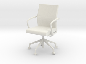 Stylex Sava Chair - Fixed Arms 1:24 Scale in White Natural Versatile Plastic