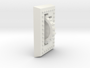 Bolted Plate in White Natural Versatile Plastic