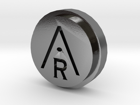 Aravinda Rodenburg Lapel Pin in Polished Silver
