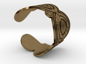 The Doctor's name (Engraved): Cuff - size M in Natural Bronze