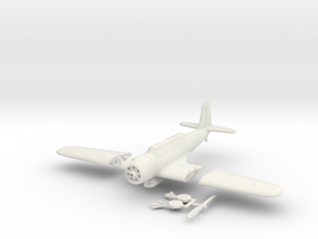 1/100 Vought SB2U Vindicator (folding wings) in White Natural Versatile Plastic