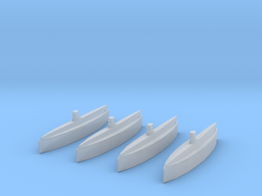 Type IIA U-Boat 1/2400 x4 in Smooth Fine Detail Plastic