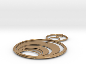 Crop Circle Inspired 1a in Polished Brass