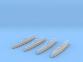 K.XIV Class Submarine 1/2400 x4 in Smooth Fine Detail Plastic