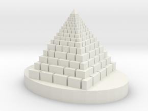 Big Pyramid in White Natural Versatile Plastic