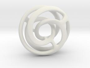 Mobius art in White Natural Versatile Plastic