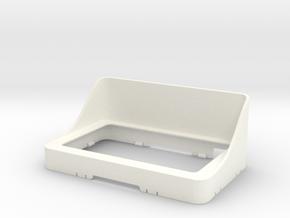 Garmin Zumo 660 sunshield Click'n'Go in White Processed Versatile Plastic