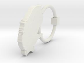 Earring G Single in White Natural Versatile Plastic
