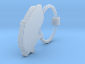 Earring G Single in Smooth Fine Detail Plastic