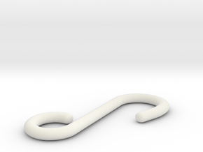 Haken in White Natural Versatile Plastic