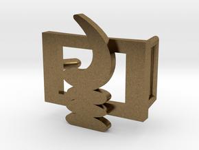 AKOBEN BELT BUCKLE in Natural Bronze