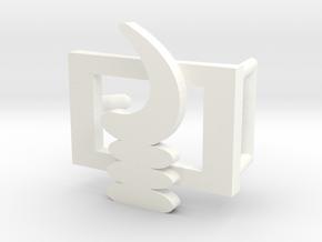 AKOBEN BELT BUCKLE in White Processed Versatile Plastic