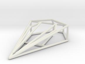 Fer-de-Lance Wireframe 1-300 in White Natural Versatile Plastic