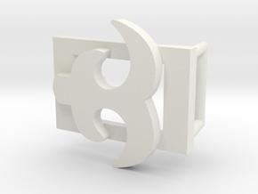 AKOKO NAN BELT BUCKLE in White Natural Versatile Plastic