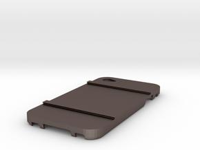 SMARTcase Iphone4 V1 Part2 in Polished Bronzed Silver Steel