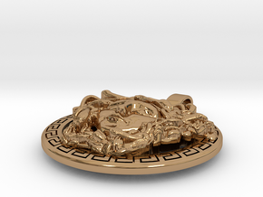 Medusa pendant in Polished Brass