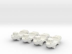 1/285 LARC-V Amphibious Truck (x4) in White Natural Versatile Plastic