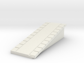 T Gauge Perronhelling/platform incline Smal (1:450 in White Natural Versatile Plastic