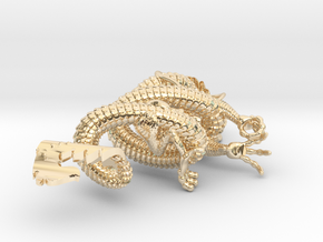 Dragon pendant # 3 in 14K Yellow Gold