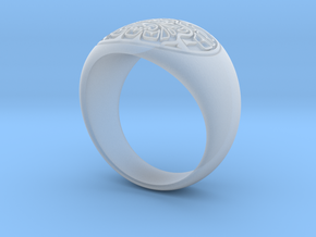 Tiki Man mask ring in Smooth Fine Detail Plastic