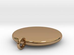 Basic Round Medallion in Polished Brass