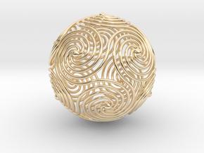 Spiraling Icosahedron in 14K Yellow Gold