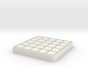 Dots And Boxes, Elegant Edition in White Natural Versatile Plastic