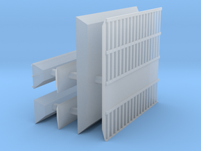 1/700 Shipping Container Stack of 4 in Smooth Fine Detail Plastic