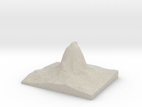 Model of Devils Tower in Natural Sandstone