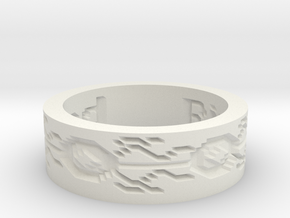 by kelecrea, engraved: Ring Of Speed in White Natural Versatile Plastic