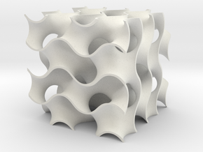 Gyroid in White Natural Versatile Plastic